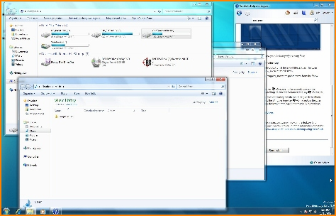 Windows 7 Showing Open Screens