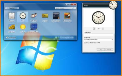 Windows 7 Clock Gadget Options